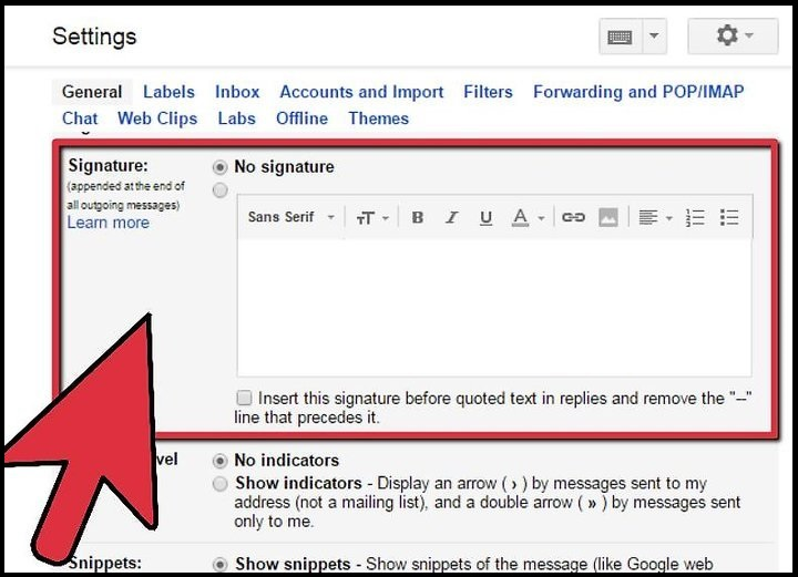 how to remove Automatic Signature in Gmail