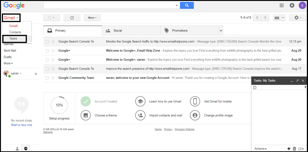 use Gmail Task in your Browser or on a Mobile phone?