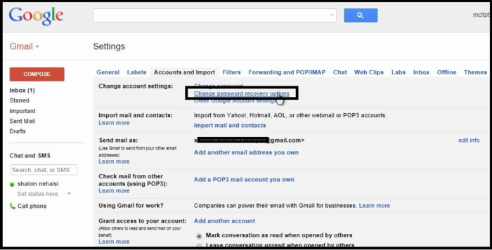 change a Secondary E-mail address in Gmail