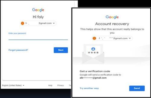 gmail login error