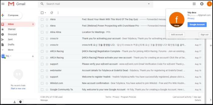 gmail logout in desktop