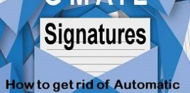 Automatic Gmail signature