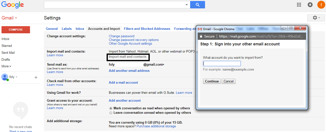 Import Yahoo Mail and Contacts into Gmail