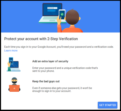 protect your gmail account with 2 step verification