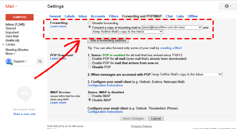 Forward Email Using Filters in Gmail