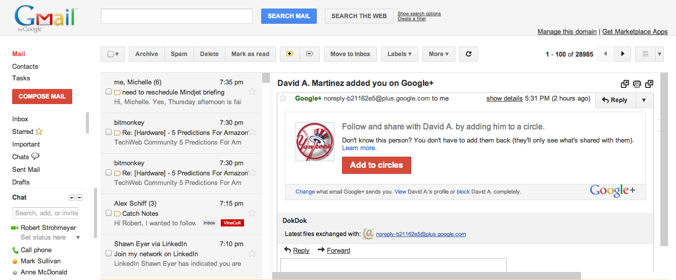 Add Email Preview Pane in Gmail