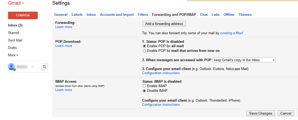 Access a Gmail Account in Windows Live Mail