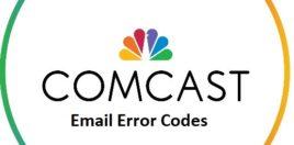 comcast email error codes