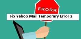 yahoo email error 2 fix